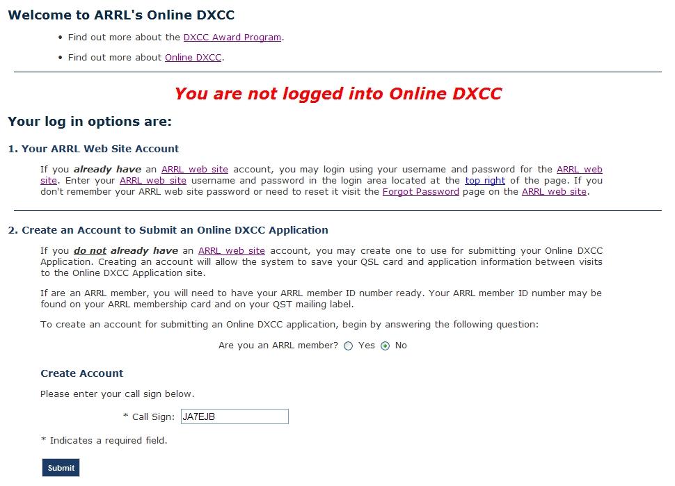 Online DXCC